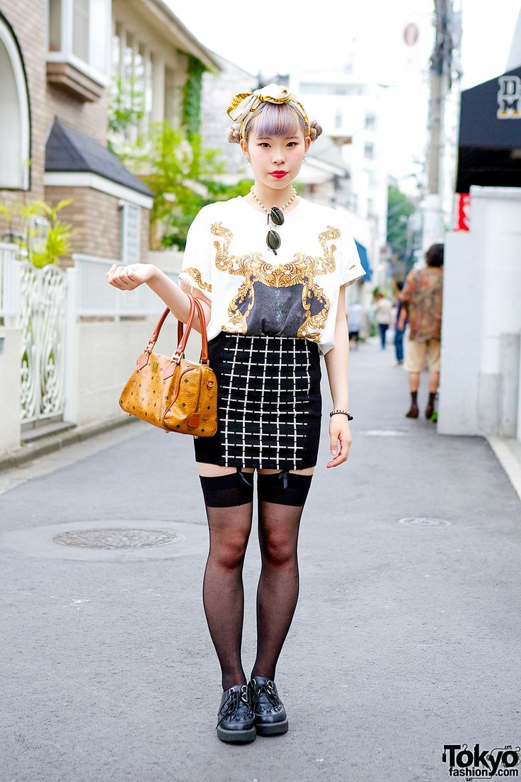 Bunka Fashion College student w/ lilac double buns... | Tokyo Fashion