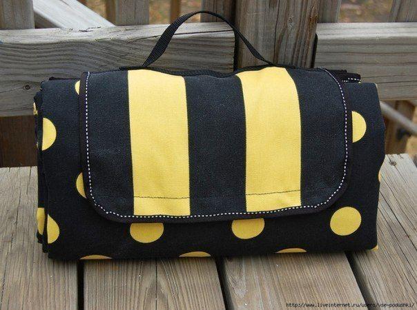 Одеяло-сумка для пикника Своими руками