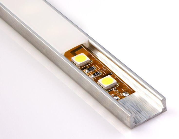 Low Profile Surface Mount LED Profile Housing for LED Strip Lights - MICRO-ALU Series | LED Light Strip & Bar Accessories | LED Strip Lights & LED Bars | Super Bright LEDs