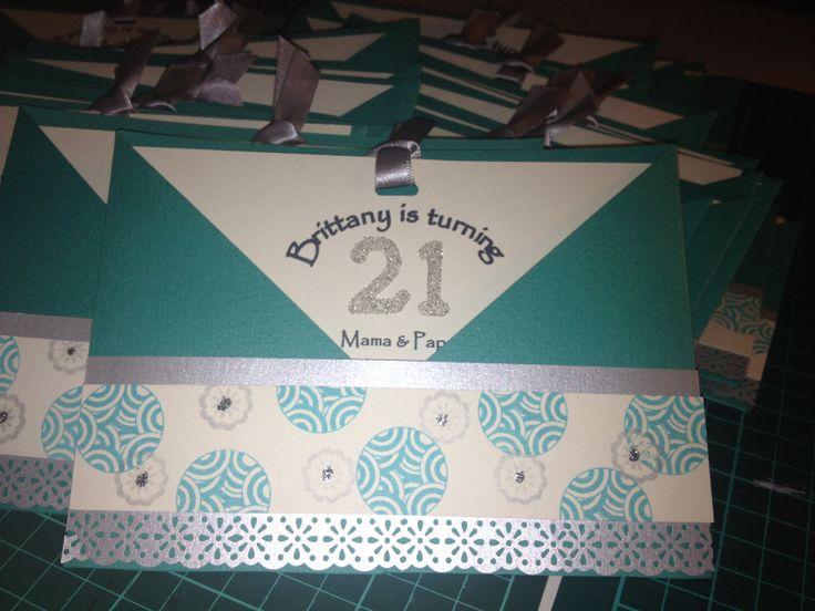 21st Birthday Invite, pocket invite