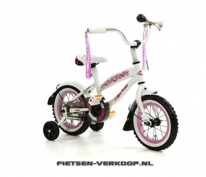 Meisjesfiets Bela Cruise Wit 12 Inch   bestel gemakkelijk online op Fietsen-verkoop.nl