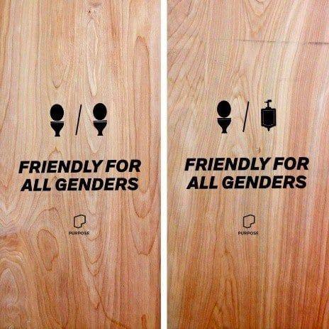 Best Gender Neutral Bathroom Signs Ideas On Pinterest Gender - All gender bathroom sign for bathroom decor ideas