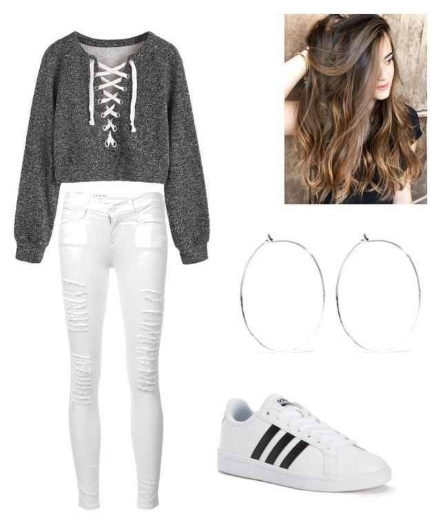 """Outfit #38"" by abby020 on Polyvore featuring Frame, adidas and Catbird"