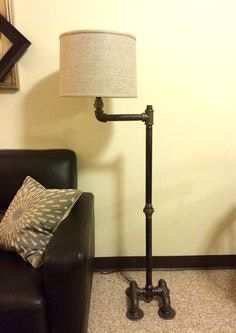Floor Lamp Plumbing Pipe Floor Lamp With Black Iron Faucet Switch By