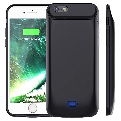 "Vobon Funda Bateria iPhone 6 / 6S, 5000mAh Carcasa Bateria, Externa Recargable Protector Cargador Power Bank Case para Apple iPhone 6 / 6S (4,7"" ) (Negro) #Vobon #Funda #Bateria #iPhone #Carcasa #Bateria, #Externa #Recargable #Protector #Cargador #Power #Bank #Case #para #Apple #(Negro)"