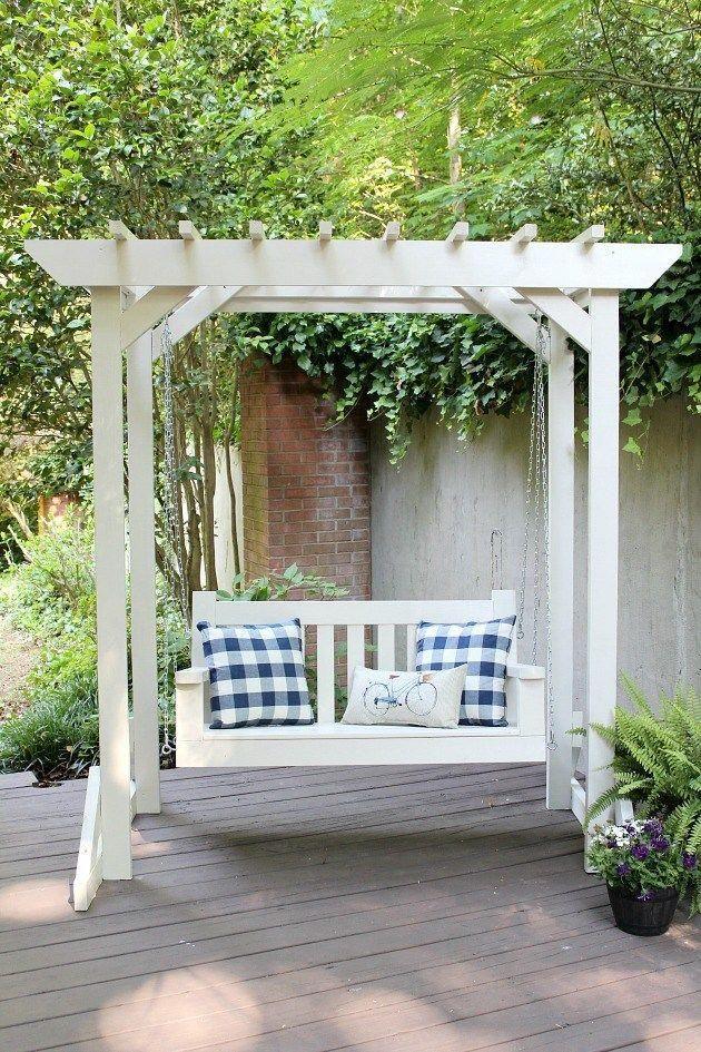 Diy Porch Swing Pergola Sincerely Marie Designs Diy Porch Swing Pergola Diy Porch