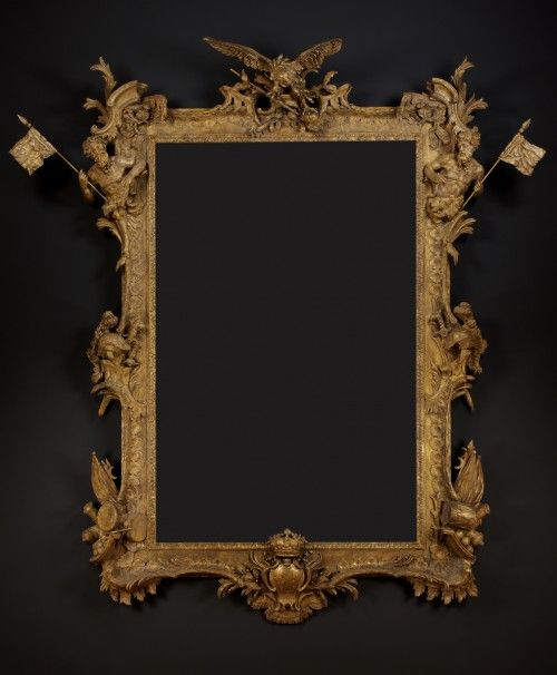 A ROYAL GILTWOOD FRAME OF COLOSSAL SCALE BY PAUL PETIT AT THE COMMAND OF FREDERICK, PRINCE OF WALES
