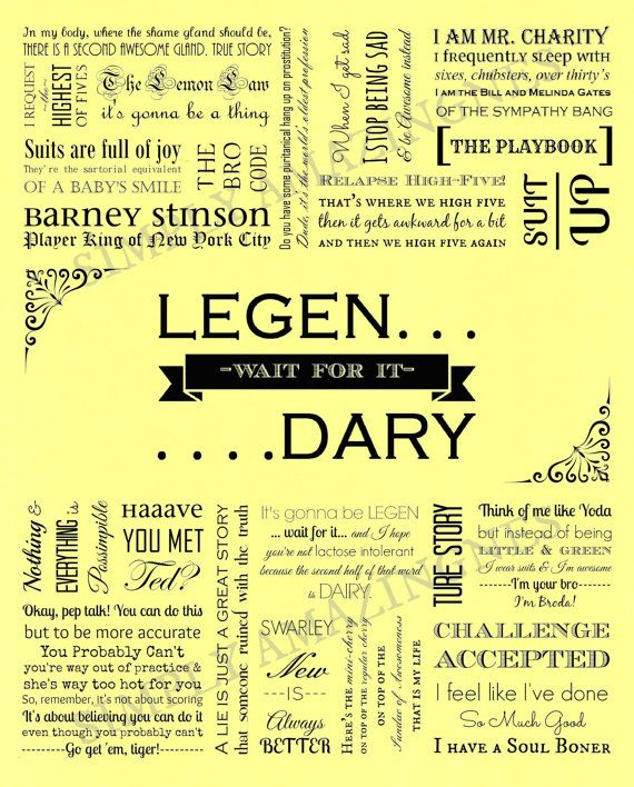 Barney Stinson. How I Met Your Mother. Quote. by SimplyAmazingness