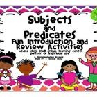 "Who said grammar can't be fun??? Use the Subject and Predicate Activities from It's a Teacher Thing to liven up your lessons and student learning. You'll receive the following: *56-complete subject slips with solid borders (with an option of two levels-""H"" and ""L"") *56-complete predicate slips with dotted line borders (with an option of two levels-""H"" and ""L"")  (The ""H"" slips (higher) may have helping verbs, infinitives, or conjugations of the verb ""to be"")"