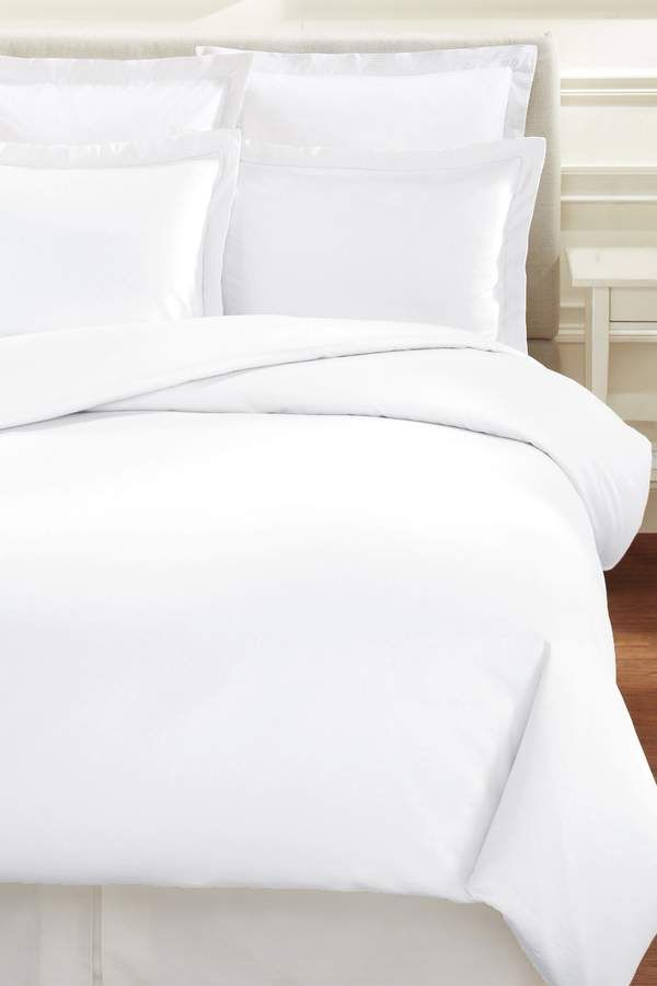 Melange Home King 600 Thread Count Cotton Hemstitch Duvet Set