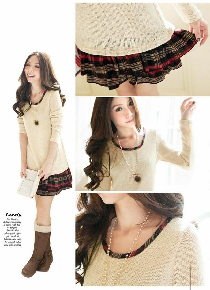 Ericdress Saleable Pleated Long Sleeves Casual Dress 6
