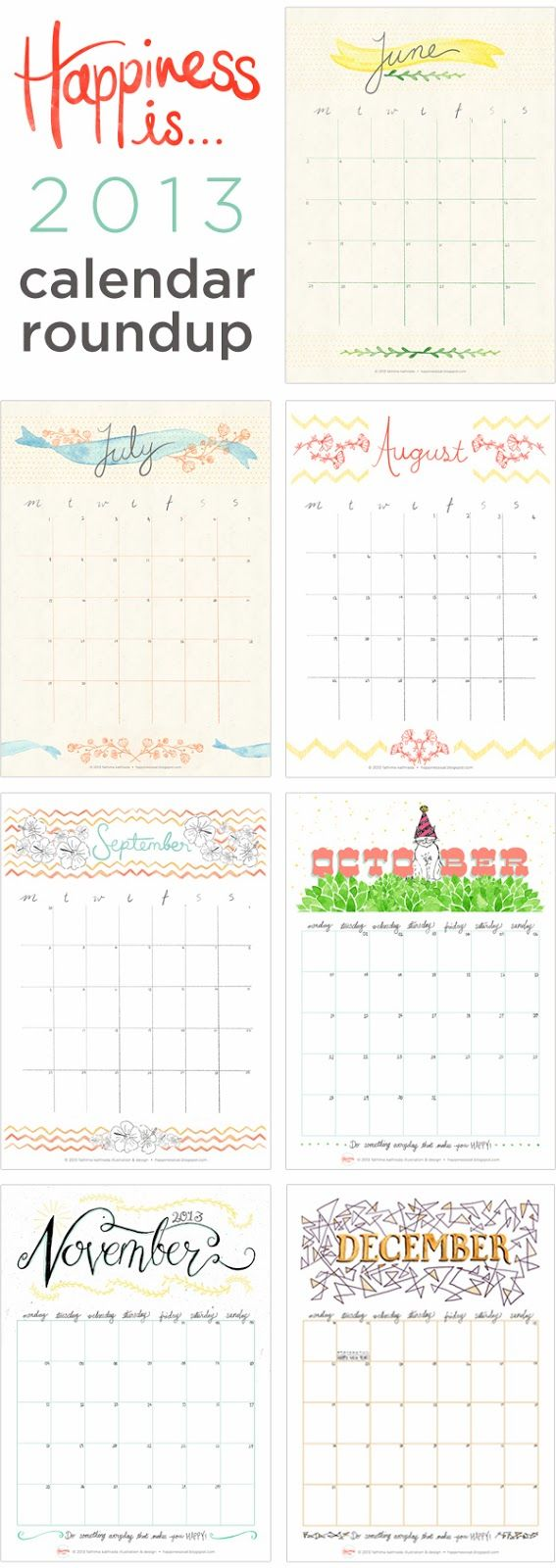 Happiness is...: Happy New Year! + Free January Calendar Planner