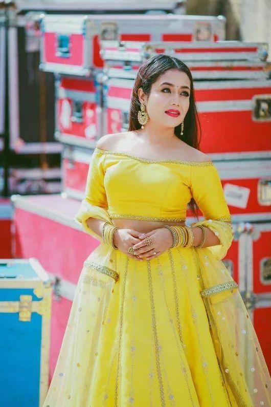 Neha Kakkar In Yellow Dress