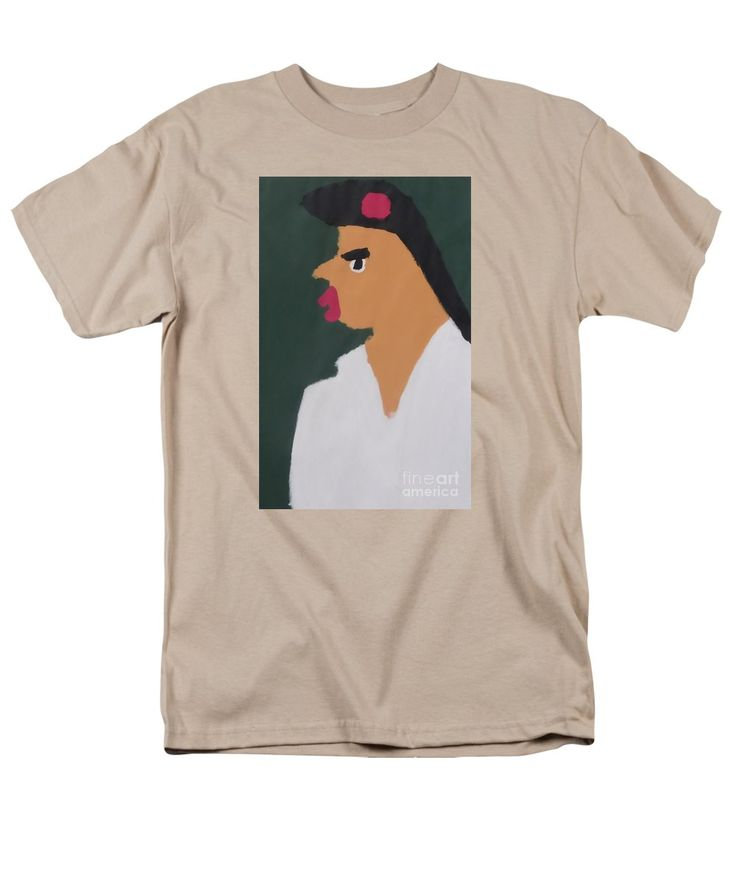 Patrick Francis Sand Designer T-Shirt featuring the painting Portrait Of A Woman With Red Ribbon 2014 - After Vincent Van Gogh by Patrick Francis