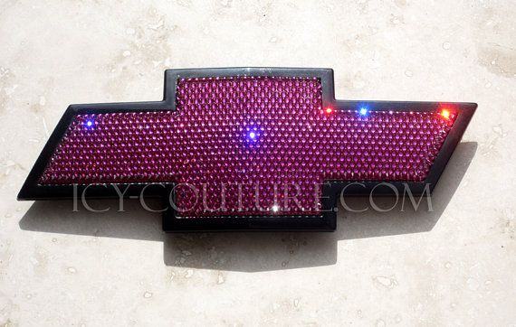 Bling CHEVY Bow Tie EMBLEMS in Your Crystal Color | Cars ...