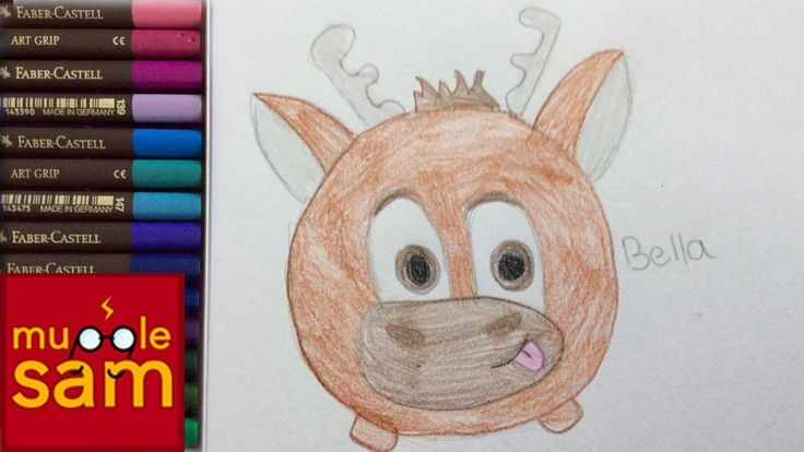 Kids Art Challenge! Drawing Sven From Disney's Frozen Tsum Tsum | Mugglesam