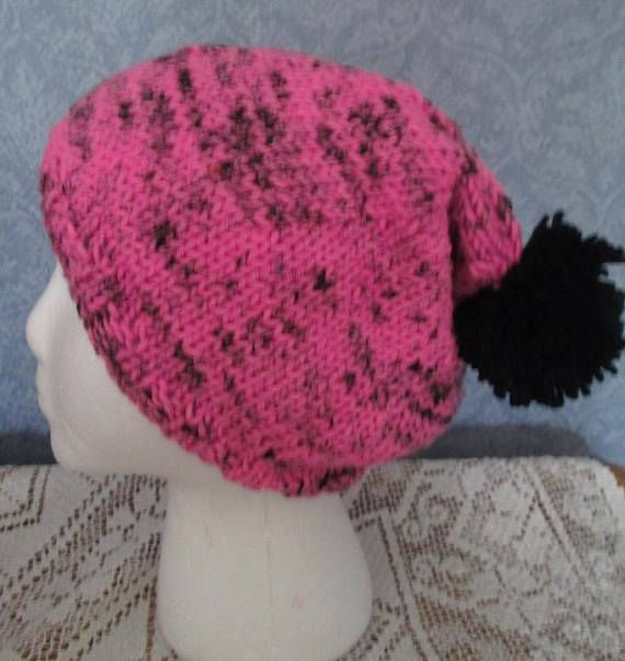 920a375c7f5 Big Slouch Hat in Vivid Pink and Black