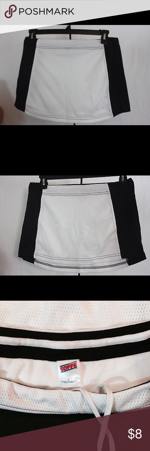 Soffee Athletic Skirt Size Large Black and white Soffee Tennis skirt Size large never worn Skirts