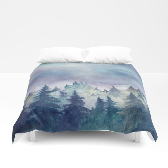 Into The Forest duvet cover by Marco Gonzalez