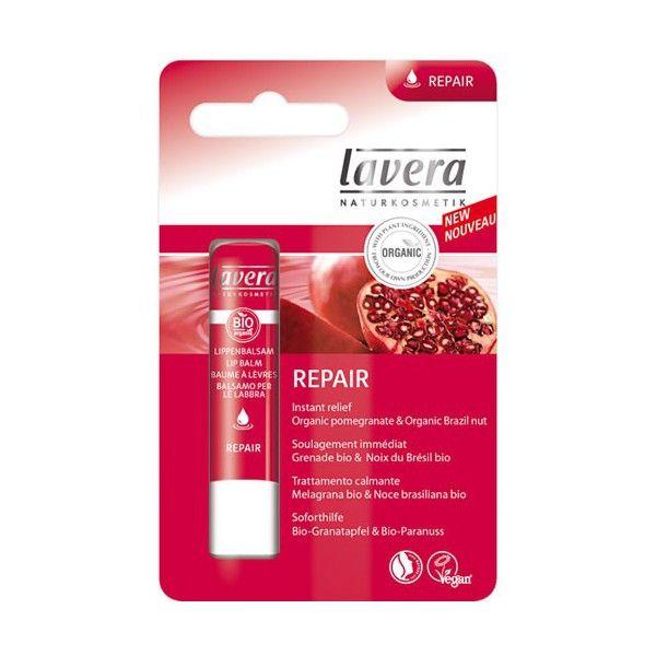 Lavera Repair balsam do ust z bio-owocem granatu i wyciągiem z orzecha brazylijskiego 4,5 g 14,03