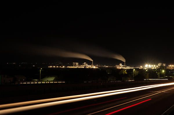 Factory Panorama By Night