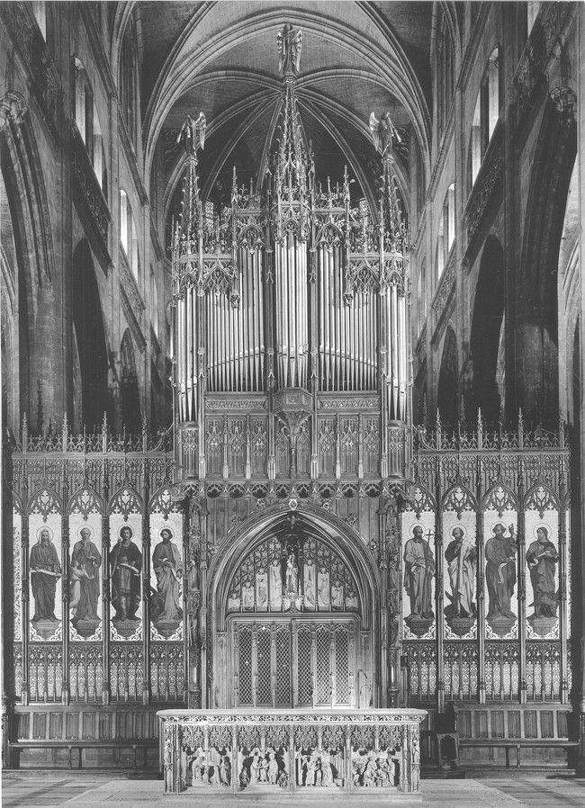 PH - Jean Dieuzaide - Auch, cathédrale Sainte Marie, 1980. Bibliothèque Municipale de Lyon