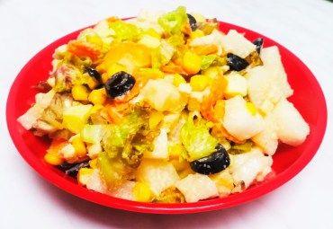 salata de ridiche alba cu tofu