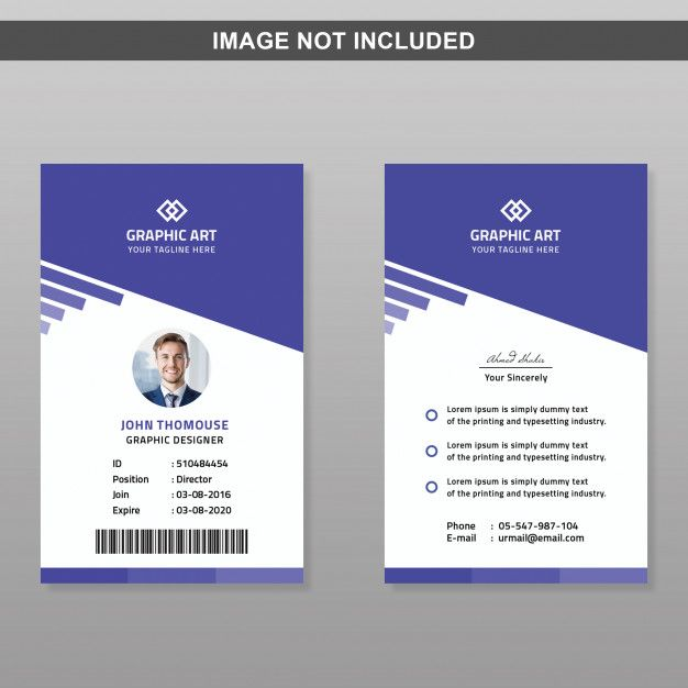 Id Card Template Id Card Template Card Design Handmade Employees Card