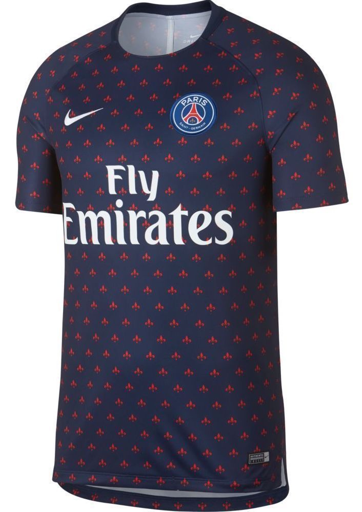 9c5fffe7 Nike 2018-19 PSG Dry Fit Squad Training Jersey Navy Mens Medium M 894327  411 #Nike #Jerseys