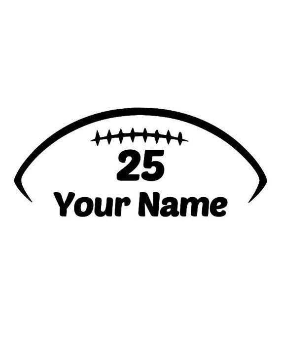 Custom/ Personalized football decal with name and number