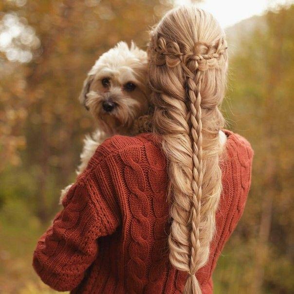 Прическа, красивая прическа, плетение, коса, ободок