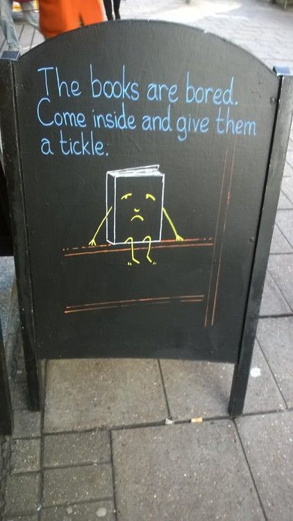 Sign outside Waterstones Gower Street