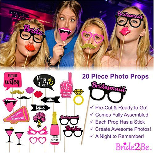 Hot BACHELORETTE PARTY DECORATIONS KIT | Bride To Be Bridal Wedding Shower Set | Sash, Veil/Comb, Banner, Bride Tribe Tattoos, Photo Booth Props, Balloons | Wedding Engagement Party Supplies Accessories