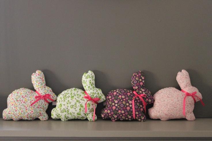 Rabbit cushion Augustin handmade in France  - claradeparis.com  ♥