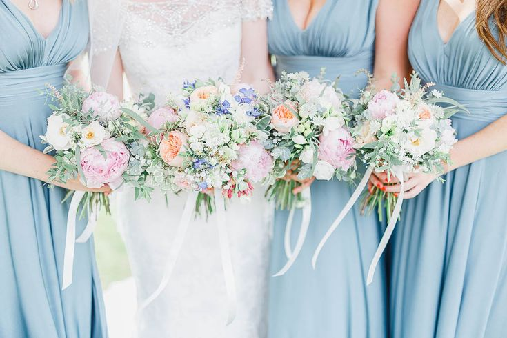Pastel Bouquet inspiration at Cain Manor in Surrey