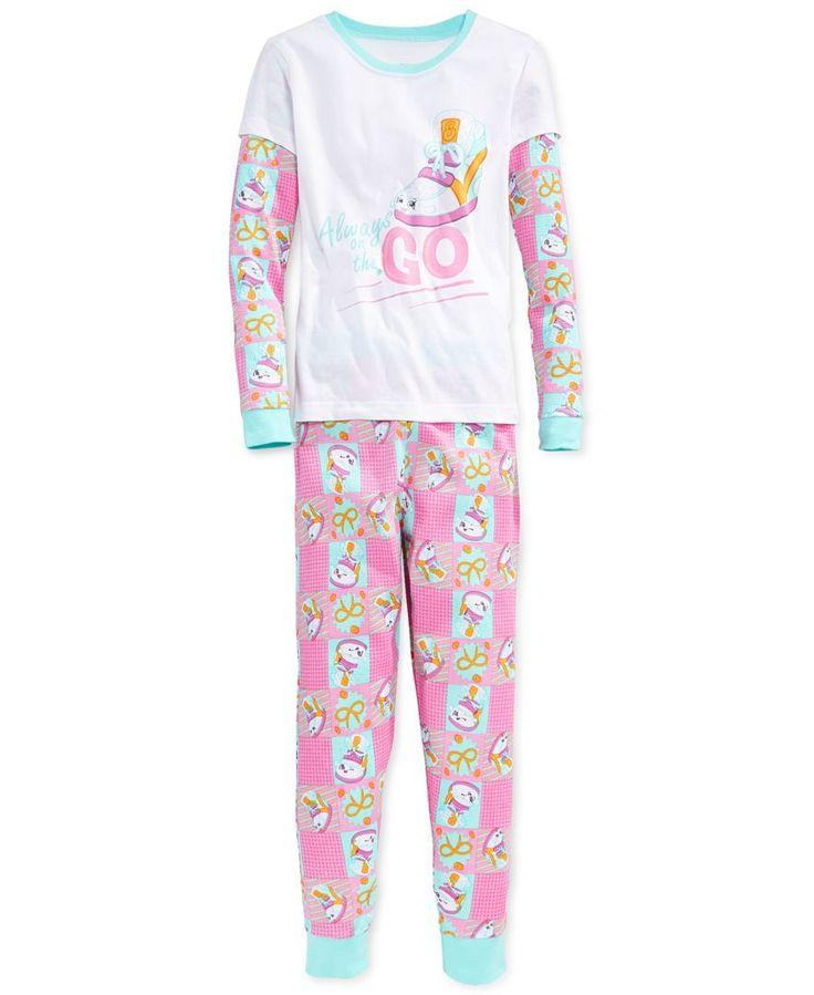 Dc Comics Girls' or Little Girls' 2-Piece Shopkins Pajamas