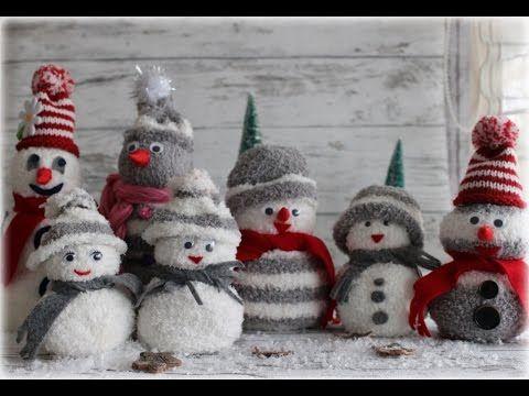 Schneemänner ganz leicht aus Socken basteln. DIY Sock Snowman, My Crafts and DIY Projects