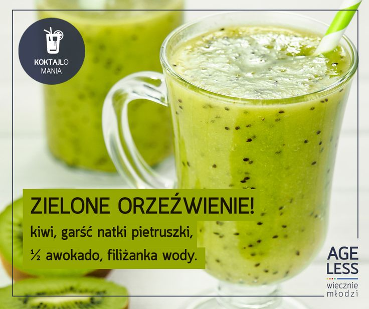 #Kiwi #smoothie #cocktail #fresh #zdrowie www.ageless.pl