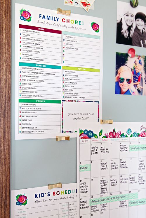 Calendar Organization Tips : Best ideas about family chore charts on pinterest