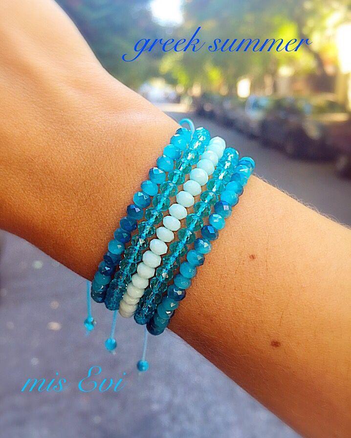 Greek summer!!!! Handmade bracelets