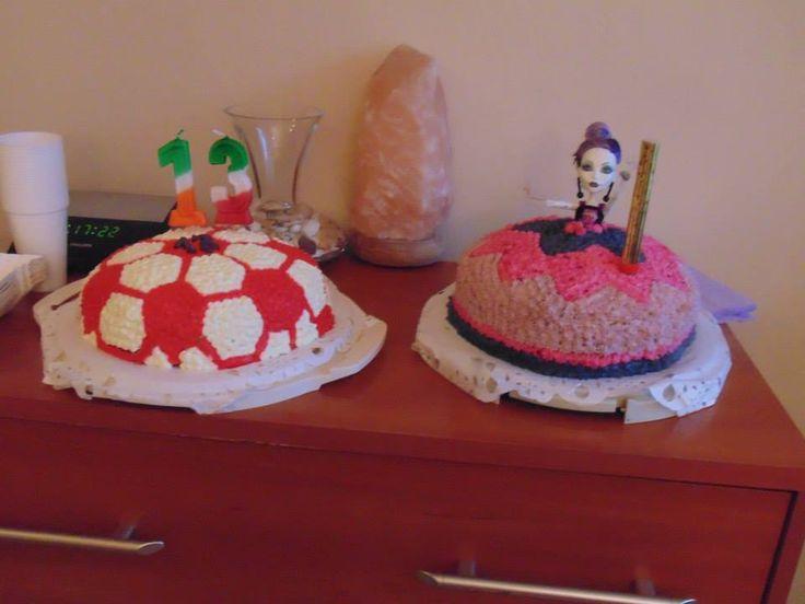 Tort piłka i tort Monster  :)