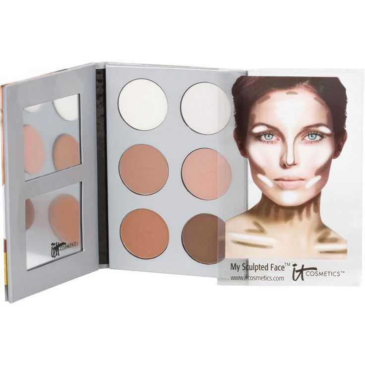 my sculpted face highlighting and contouring kit it cosmetics girl. Black Bedroom Furniture Sets. Home Design Ideas