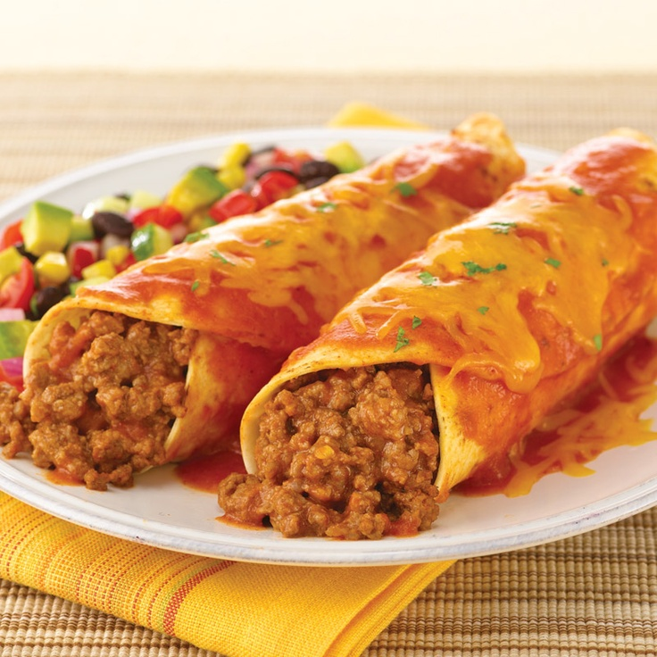 Beef Enchiladas, these are easy and not bad, only 6 Pts+ WW for 1 ...