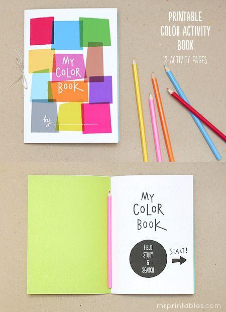 printable color activity book