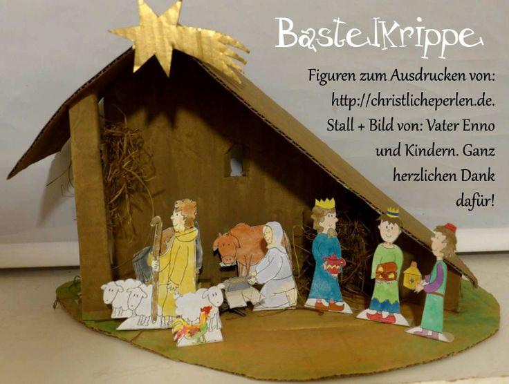 bastelkrippe zum ausdrucken  basteln basteln weihnachten