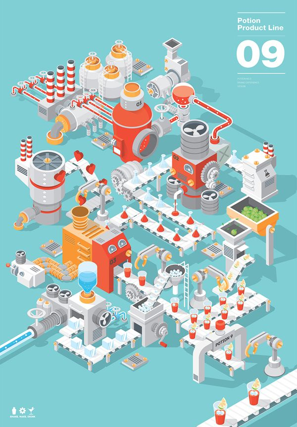 Isometric vector illustration <3  Game / potion.09
