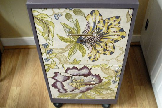 """One pinner wrote, """"filing cabinet redo - best instructions I've found, plus Cathy is awesome!?"""