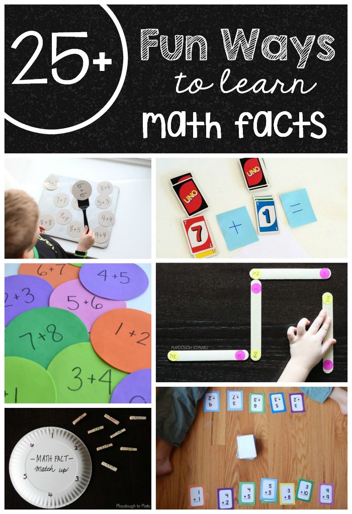 Tired of practicing those math facts?  Here are over 25 fun math facts games to play with your child!