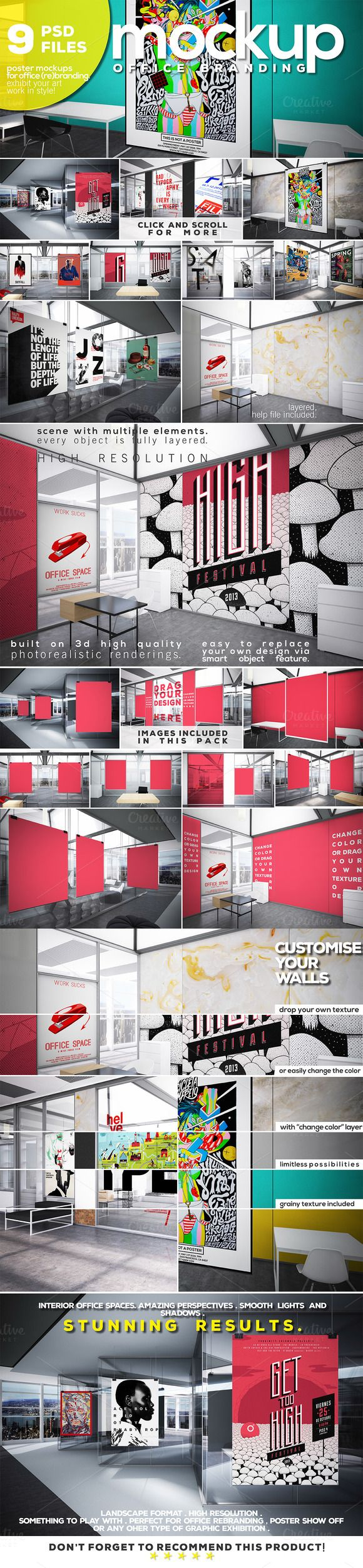 OFFICE BRANDING_Poster Mockup Vol.6 by Northern Kraft on Creative Market