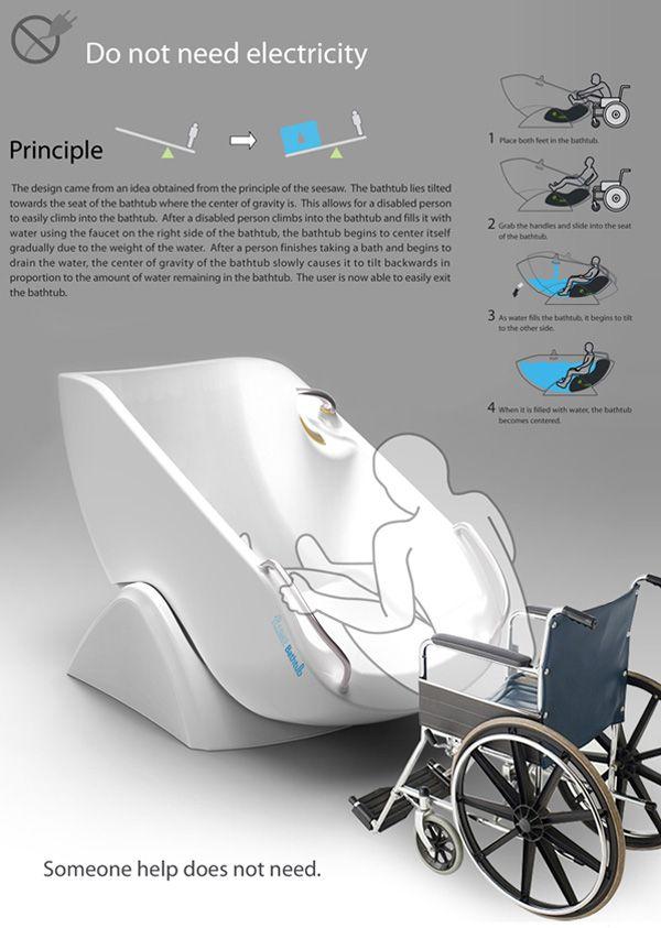 Acessibilidade – Designers criam conceito de banheira para cadeirantes ~ PcD On-Line